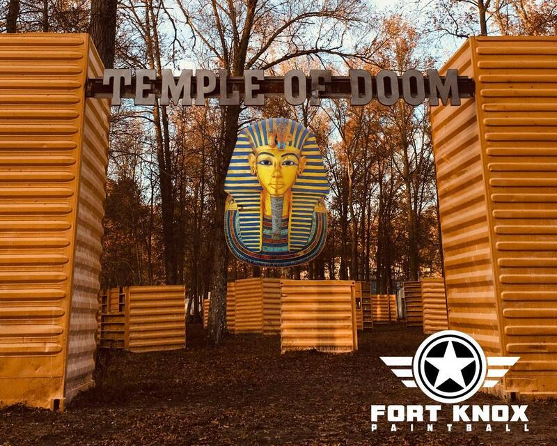 Temple of Doom Fort Knox Paintball